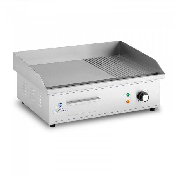 Elektro Grillplatte - 548 x 350 mm - Ribber + Flat - 3.000 W