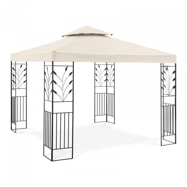 Gartenpavillon - 3 x 3 m - 180 g/m² - creme