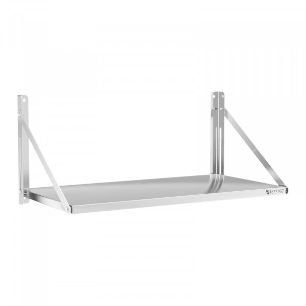 Wandbord - klappbar - 100 x 45 cm - 40 kg - Edelstahl