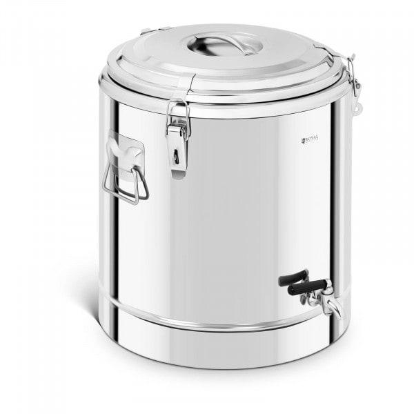 B-Ware Thermobehälter Edelstahl - 40 L - mit Ablasshahn