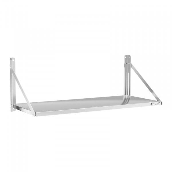 Wandbord - klappbar - 120 x 45 cm - 40 kg - Edelstahl